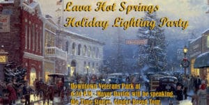 Holiday Lighting Party in Lava Hot Springs