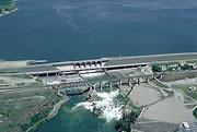Aerial view of American Falls Dam