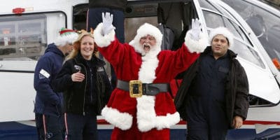 Santa arrives at American Falls Christmas Celebration