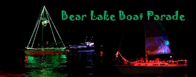 Boat Light Parade & Fireworks at the Bear Lake State Park Marina in Garden City Utah