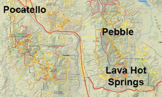 Southeast Idaho Snowmobile Trail Maps Printed and Online maps
