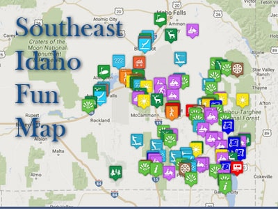 Southeast Idaho Activities Map - Idaho Mountains Adventure!