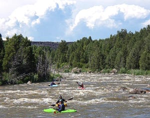 Kayaking Black Canyon on the Bear River in Grace Idaho