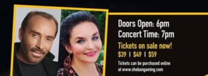 Lee Greenwood & Crystal Gayle at the Shoshone-Bannock Hotel and Event Center