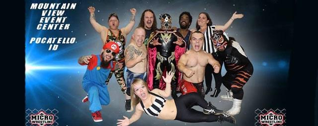 Micro Wrestling at Mountain View Event Center in Pocatello Idaho