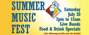 Summer Music Fest in Old Town Pocatello