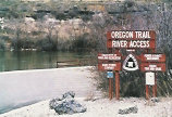 Oregon Trail Water Access sign