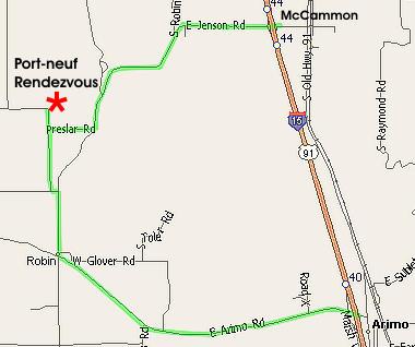 Map to Rendezvous in McCammon Idaho