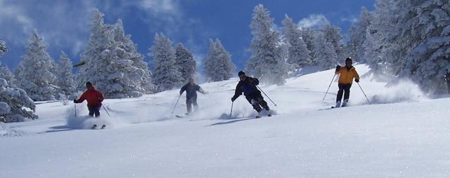 Skiing and Snowboarding at Pebble Creek Ski Area.