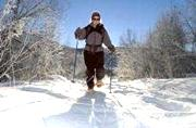 Snowshoeing on groomed trails