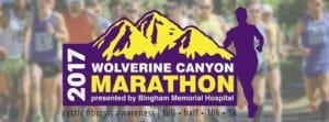 Wolverine Canyon Marathon, Half, 10k, 5k Blackfoot Idaho
